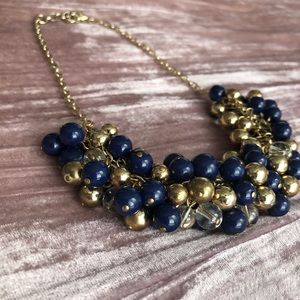Banana Republic Blue and Gold Necklace